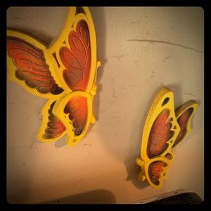 💥🦋70s Butterfly Wall Art Plaques🦋💥
